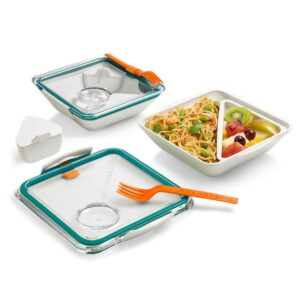 Кутия за храна Box Appetit - бяло и зелено - Black+Blum
