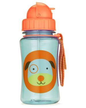 """Детска бутилка със сламка """"Кученце"""" - Skip Hop"""