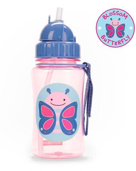 """Детска бутилка със сламка """"Пеперудка"""" - Skip Hop"""