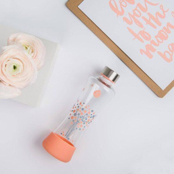 """Стъклена бутилка """"Прасковeно дърво"""" 550 мл - EQUA"""