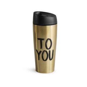 Термо чаша за път злато - Sagaform