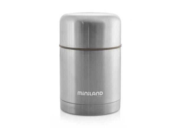 Термос за храна 600 мл металик - Miniland