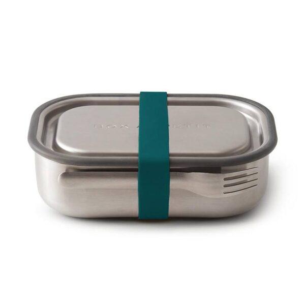 Кутия за храна с вилица, синя - Black+Blum