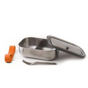 Кутия за храна с вилица, оранжева - Black+Blum