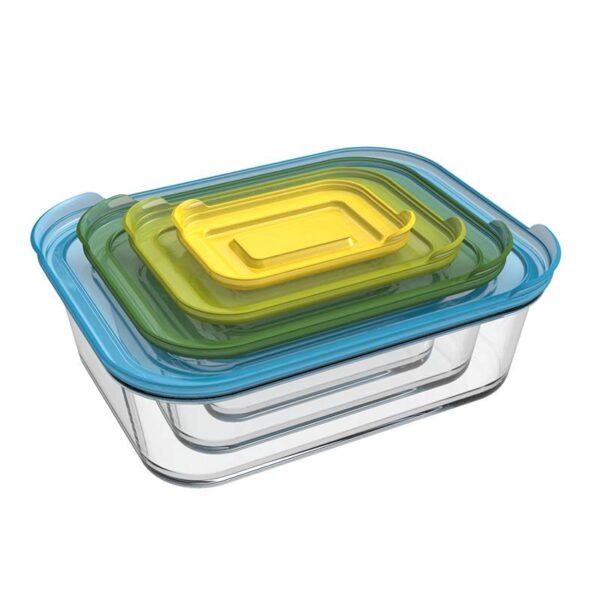 Стъклени кутии за съхранение на храна Nest™ 4 бр - Joseph Joseph