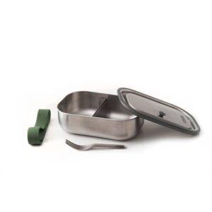 Кутия за храна с вилица, зелена - Black+Blum