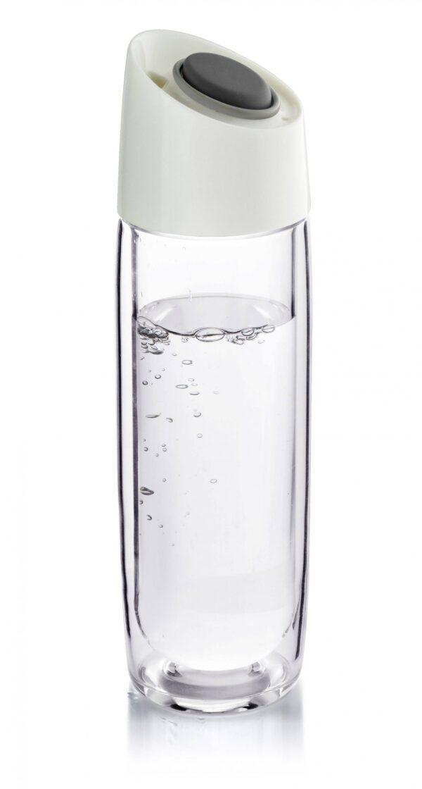 Стъклена термо бутилка Simply Clear 400 мл графит Asobu