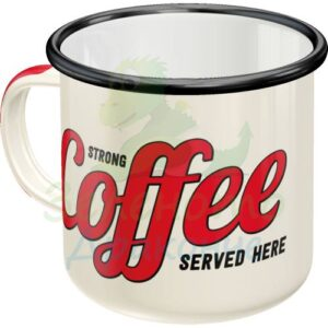 """Емайлирано канче """"Силно кафе"""" - Nostalgic Art"""