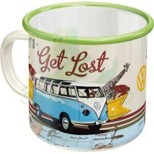 "Емайлирано канче ""VW Хайде да се изгубим"" - Nostalgic Art"