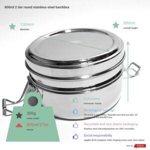 Двойна кръгла кутия за храна - One Green Bottle