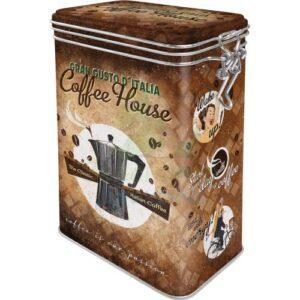 """Метална кутия с клипс за съхранение """"КАФЕНЕ"""" - Nostalgic Art"""