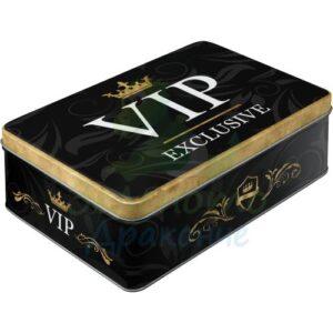 """Метална кутия за съхранение L """"VIP EXLUSIVE"""" - Nostalgic Art"""
