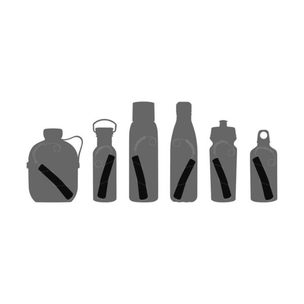 Активен въглен Binchotan с държач от стомана - Black+Blum