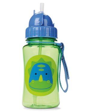 """Детска бутилка със сламка """"Динозавър"""" - Skip Hop"""