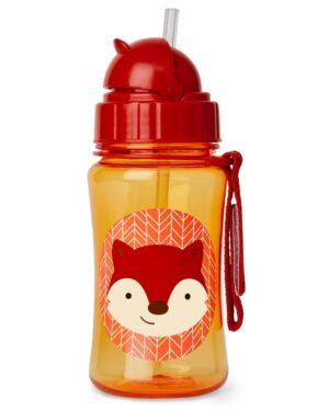 """Детска бутилка със сламка """"Лисица"""" - Skip Hop"""