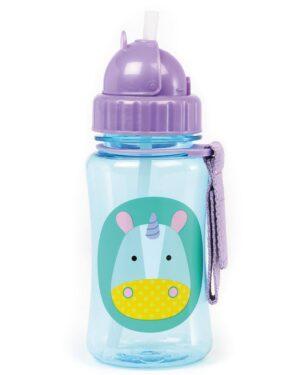 """Детска бутилка със сламка """"Еднорог"""" - Skip Hop"""