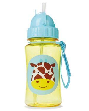 """Детска бутилка със сламка """"Жирафче"""" - Skip Hop"""