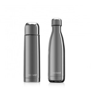 "Комплект термос и термо бутилка ""myBaby&me"" 500 мл сребро - Miniland"