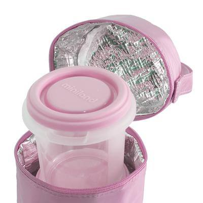 Комплект контейнери и термочанта PACK-2-GO розов - Miniland