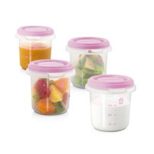 Комплект 4 контейнера, розови - Miniland