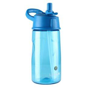 Неразливна бутилка за вода 550 мл, синя - LittleLife