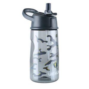 Неразливна бутилка за вода 550 мл, черна - LittleLife