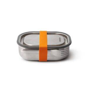 Малка кутия за храна с вилица, оранжева - Black+Blum