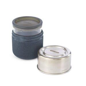 Кутия за храна от стъкло и стомана, сива - Black+Blum