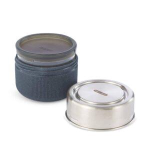 Кутия за храна от стъкло и стомана 600 мл, сива - Black+Blum