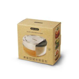 Кутия за храна от стъкло и стомана 750 мл, бадем - Black+Blum