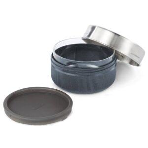 Кутия за храна от стъкло и стомана 750 мл, сива - Black+Blum