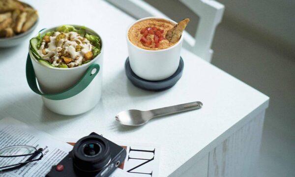 Кутия за храна - бяло и океан - Black+Blum