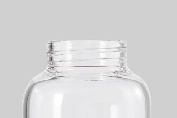 Стъклена бутилка 600 мл със силиконов калъф, сив - Black+Blum