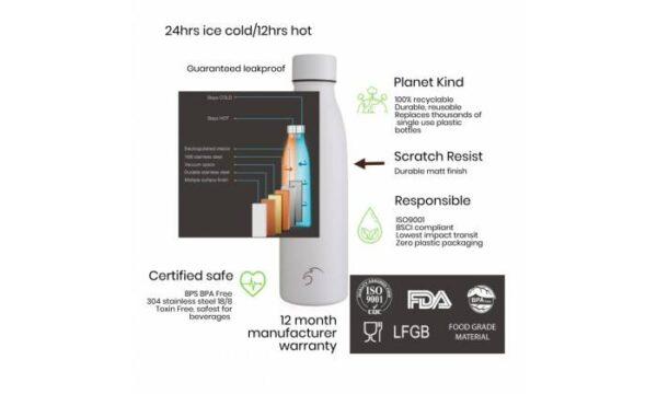 Термо бутилка от неръждаема стомана 750 мл - One Green Bottle