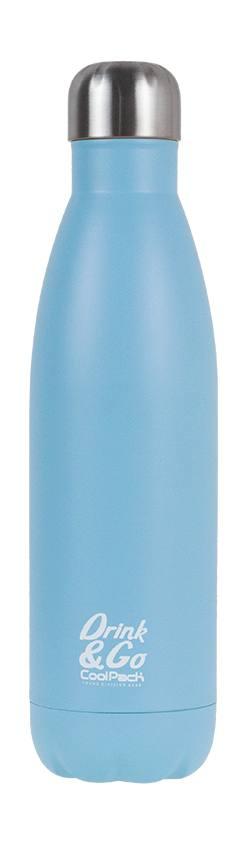Термо бутилка пастелно синьо - Colorino