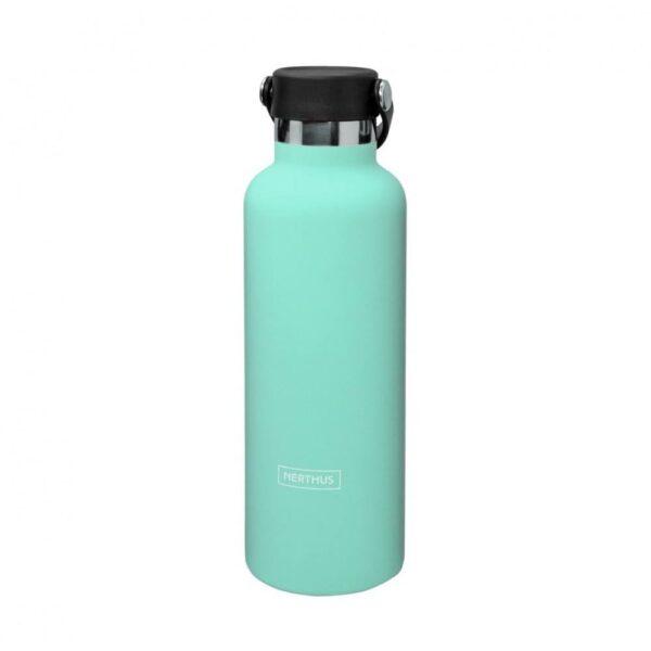Спортна термо бутилка с дръжка, тюркоаз 750 мл - Nerthus