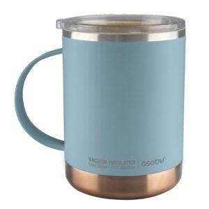 "Термо чаша с керамично покритие ""ULTIMATE"" 360 мл синя - Asobu"