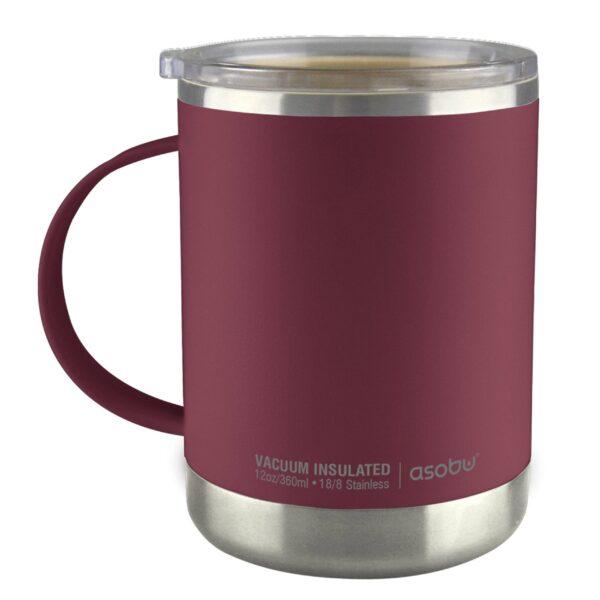 "Термо чаша с керамично покритие ""ULTIMATE"" 360 мл бургунд - Asobu"