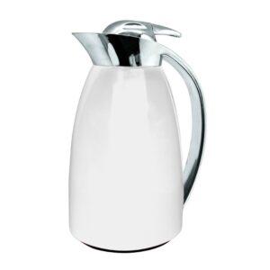 Двустенна термокана /стъкло и стомана/ 1 л., бяла - Nerthus