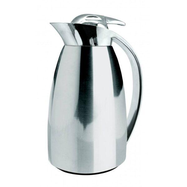 Двустенна термокана /стъкло и стомана/ 1 л., инокс - Nerthus