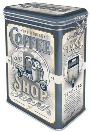 """Метална кутия за съхранение """"АРТ КАФЕ МАГАЗИН"""" - Nostalgic Art"""