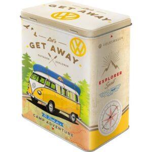 Метална кутия за съхранение L VW BULLI-ХАЙДЕ ДА ИЗБЯГАМЕ - Nostalgic Art
