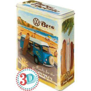 Метална кутия за съхранение XL VW BULLI-BITTLE ГОТОВИ ЗА - Nostalgic Art
